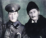 Poets Nikolai Gumilev left and Sergei Gorodetsky right. 1915.