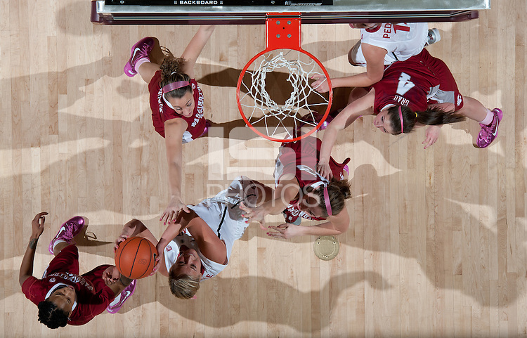 STANFORD, CA - February  10, 2011: Stanford Cardinal's Joslyn Tinkle during the Stanford 100-59 win over Washington State at Maples Pavilion in Stanford, California.