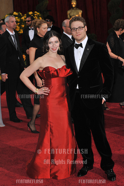 Seth Rogen & date at the 81st Academy Awards at the Kodak Theatre, Hollywood..February 22, 2009  Los Angeles, CA.Picture: Paul Smith / Featureflash
