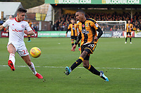 Callum Johnson of Accrington Stanley can't stop the cross by Jevani Brown of Cambridge United during Cambridge United vs Accrington Stanley, Sky Bet EFL League 2 Football at the Cambs Glass Stadium on 11th November 2017