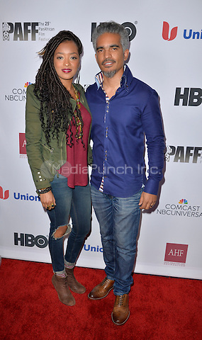 LOS ANGELES, CA- FEBRUARY 12: Jennia Fredrique Aponte, Sol Aponte at the &quot;90 Days&quot; Movie Premiere at the Pan African Film Festival at the Cinemark Baldwin Hills in Los Angeles, California on February11, 2017. <br /> Credit: Koi Sojer/Snap'N U Photos/MediaPunch