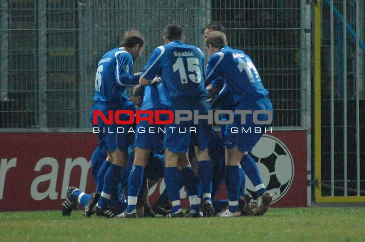 3. FBL 2008/2009 25. Spieltag R&uuml;ckrunde <br /> BSV Kickers Emden vs. Werder Bremen II <br /> Emder Jubel nach dem 1:0<br /> Foto &copy; nph (nordphoto)