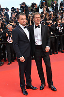 "CANNES, FRANCE. May 21, 2019: Brad Pitt & Leonardo DiCaprio at the gala premiere for ""Once Upon a Time in Hollywood"" at the Festival de Cannes.<br /> Picture: Paul Smith / Featureflash"