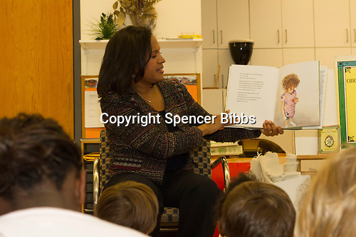 4th Ward Alderman, Sophia King spent Tuesday afternoon, January 11th, 2017 reading to children at the Ancona School located at 4770 S. Dorchester.<br /> <br /> Please 'Like' &quot;Spencer Bibbs Photography&quot; on Facebook.<br /> <br /> All rights to this photo are owned by Spencer Bibbs of Spencer Bibbs Photography and may only be used in any way shape or form, whole or in part with written permission by the owner of the photo, Spencer Bibbs.<br /> <br /> For all of your photography needs, please contact Spencer Bibbs at 773-895-4744. I can also be reached in the following ways:<br /> <br /> Website &ndash; www.spbdigitalconcepts.photoshelter.com<br /> <br /> Text - Text &ldquo;Spencer Bibbs&rdquo; to 72727<br /> <br /> Email &ndash; spencerbibbsphotography@yahoo.com