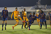 Padraig Amond of Newport County goes close during Maldon & Tiptree vs Newport County, Emirates FA Cup Football at the Wallace Binder Ground on 29th November 2019