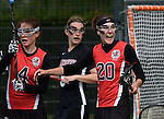 GER - Hannover, Germany, May 30: During the Women Lacrosse Playoffs 2015 match between DHC Hannover (black) and SC Frankfurt 1880 (red) on May 30, 2015 at Deutscher Hockey-Club Hannover e.V. in Hannover, Germany. Final score 23:3. (Photo by Dirk Markgraf / www.265-images.com) *** Local caption *** Magdalena Heiser #20 of SC 1880 Frankfurt