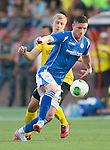 Alashkert FC v St Johnstone...02.07.15   Republican Stadium, Yerevan, Armenia....UEFA Europa League Qualifier.<br /> Michael O&quot;Halloran and Siarhei Usenia<br /> Picture by Graeme Hart.<br /> Copyright Perthshire Picture Agency<br /> Tel: 01738 623350  Mobile: 07990 594431