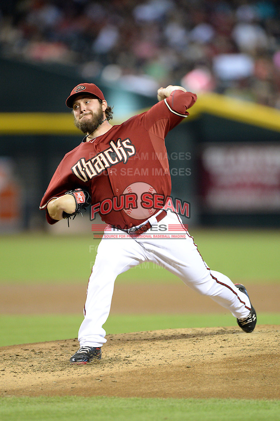 Arizona Diamondbacks pitcher Wade Miley (36) during a game against the Washington Nationals at Chase Field on September 29, 2013 in Phoenix, Arizona.  Arizona defeated Washington 3-2.  (Mike Janes/Four Seam Images)