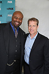 Mark Valley (Days and new show Human Target) poses with castmate Chi McBride at the FOX 2009 Programming Presentation (Upfronts) Post-Party on May 18, 2009 at Wollman Rink in Central Park, New York City, New York.  (Photo by Sue Coflin/Max Photos)