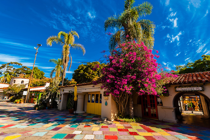 Spanish Village Art Center, Balboa Park, San Diego, California USA.