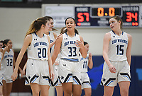 Har-Ber players react after a 57-34 victory over Heritage, Friday, February 7, 2020 during a basketball game at Wildcat Arena at Har-Ber High School in Springdale. Check out nwaonline.com/prepbball/ for today's photo gallery.<br /> (NWA Democrat-Gazette/Charlie Kaijo)