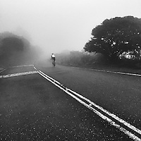 Descending into the mists of Yangmingshan National Park, near Taipei, Taiwan.