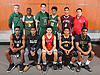 The 2017 Newsday All-Long Island boys basketball team poses for a group portrait during the All-Long Island photo shoot at company headquarters on Monday, March 27, 2017. FRONT ROW, FROM LEFT: K.C. Ndefo of Elmont, Savion Lewis of Half Hollow Hills East, Josh Serrano of Amityville, Danny Ashley of Uniondale and Kashawn Charles of Wyandanch. BACK ROW, FROM LEFT: Coach Dave Graff of Westbury, Jonathan Dean of Westbury, Alex Merhige of Harborfields, Cam Wynter of Holy Trinity, Jose Rivera of Bay Shore and Coach Peter Basel of Half Hollow Hills East.