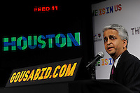 U.S. Soccer President and USA Bid Committee Chairman Sunil Gulati announces Houston as one of the 18 cities to be submitted to FIFA as part of the bid to host the 2018 or 2022 FIFA World Cup at the ESPN Zone in Times Square, NYC, NY, on January 12, 2010.