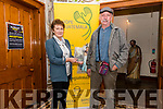 Author Mary McGillicuddy with Eddy Dieckmann (Hope Guatemala) launching the book on John Moriarty's life at An Díseart, Dingle, on Friday evening.