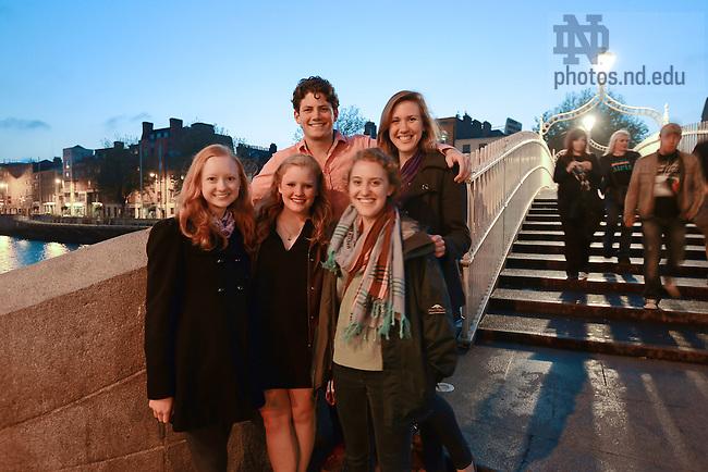 June 13, 2012; Undergraduate students in Ireland, summer 2012..Photo by Matt Cashore/University of Notre Dame