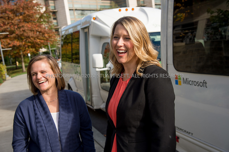 10/26/2016-- Redmond, WA, USA<br /> <br /> left to right: Sonja Kellen and Pam Hembrow on Microsoft&rsquo;s campus in Redmond, Washington.<br /> <br /> Photograph by Stuart Isett. &copy;2016 Stuart Isett. All rights reserved.
