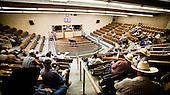 Dodge City, Kansas, USA, August 2011:.Cattle auction. Large percentage of population of this region is raising cattle and working in beef industry..(Photo by Piotr Malecki / Napo Images)..Dodge City, Kansas, Stany Zjednoczone, Sierpien 2011:.Aukcja bydla. Duza czesc mieszkancow tego rejonu zajmuje sie hodowla bydla lub pracuje w przemysle miesnym..Fot: Piotr Malecki / Napo Images.