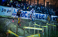 Lars van der Haar (NED/Telenet Fidea Lions) leading the race in the opening round<br /> <br /> men's race<br /> 44th Superprestige Diegem (BEL) 2018<br /> ©kramon