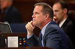 Nevada Sen. Mark Hutchison, R-Las Vegas, works on the Senate floor during the final day of the 77th Legislative session at the Legislative Building in Carson City, Nev., on Monday, June 3, 2013. <br /> Photo by Cathleen Allison