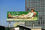 James Taylor billboard on the Sunset Strip circa 1973