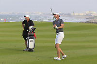 Chris Wood (ENG) during previews ahead of the first round of the NBO Open played at Al Mouj Golf, Muscat, Sultanate of Oman. <br /> 14/02/2018.<br /> Picture: Golffile | Phil Inglis<br /> <br /> <br /> All photo usage must carry mandatory copyright credit (&copy; Golffile | Phil Inglis)