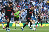 1st March 2020; RCDE Stadium, Barcelona, Catalonia, Spain; La Liga Football, Real Club Deportiu Espanyol de Barcelona versus Futbol Club Atletico Madrid;  Vitolo of Atletico breaks away on the ball