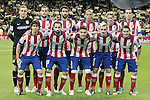 Atletico de Madrid's team photo with Jan Oblak, Mario Suarez, Raul Garcia, Joao Miranda, Fernando Torres, Diego Godin, Tiago Mendes, Juanfran Torres, Guilherme Siqueira, Antoine Griezmann and Koke Resurrecccion during Spanish King's Cup match.January 15,2015. (ALTERPHOTOS/Acero)