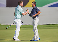 Branden Grace (RSA), Chase Koepka (USA) during the 3rdround of the BMW SA Open hosted by the City of Ekurhulemi, Gauteng, South Africa. 13/01/2017<br /> Picture: Golffile | Tyrone Winfield<br /> <br /> <br /> All photo usage must carry mandatory copyright credit (&copy; Golffile | Tyrone Winfield)