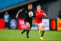 1st November 2019, Tokyo, Japan;  Aaron Smith (NZL) accelrates towards the try line;  2019 Rugby World Cup 3rd place match between New Zealand 40-17 Wales at Tokyo Stadium in Tokyo, Japan.  - Editorial Use