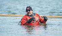 NWA Democrat-Gazette/BEN GOFF @NWABENGOFF<br /> Frogdogz SCUBA divers help with safety Saturday, Feb. 9, 2019, during the Special Olympics Arkansas Beaver Lake Polar Plunge at Prairie Creek recreation area. Divers measured the water temperature at 44 degrees Fahrenheit and the air temperature in nearby Rogers rose to 30 degrees Fahrenheit by the time participants dove in, according to the National Weather Service. The annual event is a fundraiser for Special Olympics Arkansas.