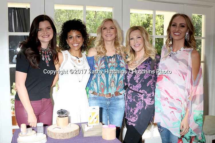 """LOS ANGELES - APR 14:  Heather Tom, Karla Mosley, Katherine Kelly Lang, Kym Douglas, Model at the """"Home and Family"""" Celebrates """"Bold and Beautiful's"""" 30 Years at Universal Studios Back Lot on April 14, 2017 in Los Angeles, CA"""