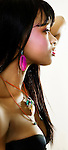 Young black woman in profile