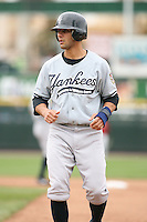 June 1st 2008:  Outfielder Justin Christian (13) of the Scranton Wilkes-Barre Yankees, Class-AAA affiliate of the New York Yankees, during a game at Frontier Field in Rochester, NY.  Photo By Mike Janes/Four Seam Images