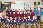 Scoil Realta na Maidne, Listowel: Junior infants on their first day at School pictured with their teacher on Tuesday last: Ruth Sheehan, Deidre O'Connor & Joan O'Connell.....School has a no name policy.