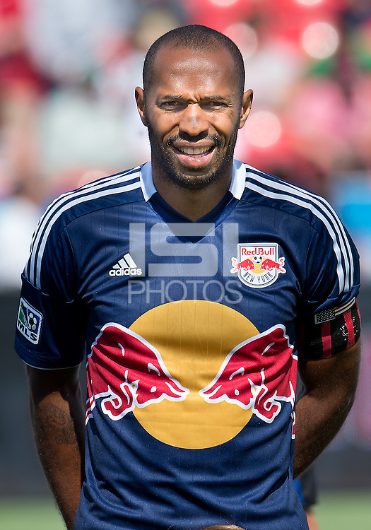 20 July 2013: New York Red Bulls forward Thierry Henry #14 during the opening ceremonies in an MLS regular season game between the New York Red Bulls and Toronto FC at BMO Field in Toronto, Ontario Canada.<br /> The game ended in a 0-0 draw.