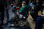 A home supporter in a wheelchair looks on during half-time as West Bromwich Albion take on Leeds United in a SkyBet Championship fixture at the Hawthorns. Formed in 1878, the home team were relegated from the English Premier League the previous season and were aiming to close the gap on the visitors at the top of the table. Albion won the match 4-1 watched by a near-capacity crowd of 25,661.