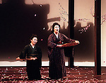 1998 - MADAME BUTTERFLY - Zheng Cao (lt.-Suzuki) and Paula Delligatti (rt.-Madame Butterfly) perform the well known Flower Dance in Opera Pacific's 'Madame Butterfly.