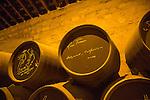 Sherry barrels signatures famous people, Gonzalez Byass bodega, Jerez de la Frontera, Cadiz province, Spain - Lana Turner 1953