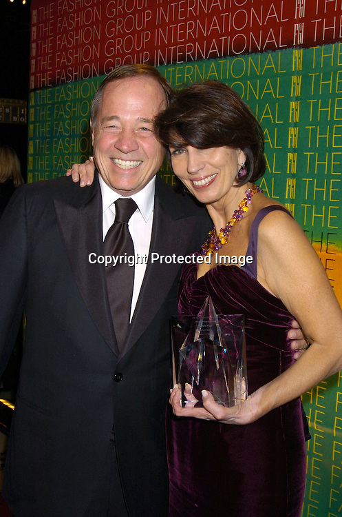 Fred Wilson from Saks and Pamela Fiori ..at the FaShion Group International's 21st Annual Night of ..Stars on October 28, 2004 at Cipriani 42nd Street in New York City. ..Photo by Robin Platzer, Twin Images