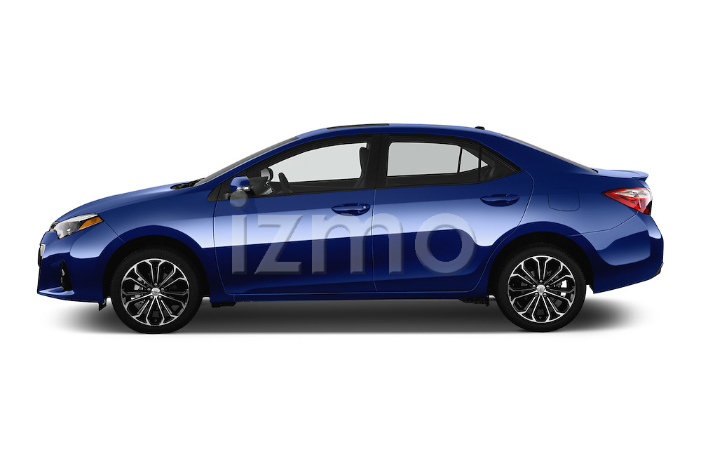 Car Driver side profile view of a 2016 Toyota Corolla S Premium 4 Door Sedan Side View