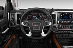 Car pictures of steering wheel view of a 2019 GMC Sierra 2500HD 2WD Crew Cab Standard Box SLT 4 Door Pick Up
