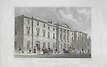 Engravings of Scottish landscapes and buildings from late eighteenth and early nineteenth century, Exchange Buildings, Leith, Scotland, 1830