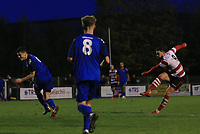 Louie Theophanous of Kingstonian strikes at goal during Kingstonian vs Lewes, BetVictor League Premier Division Football at King George's Field on 16th November 2019