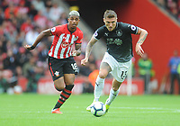 Burnley's Jeff Hendrick under pressure from Southampton's Mario Lemina<br /> <br /> Photographer Kevin Barnes/CameraSport<br /> <br /> The Premier League - Southampton v Burnley - Sunday August 12th 2018 - St Mary's Stadium - Southampton<br /> <br /> World Copyright &copy; 2018 CameraSport. All rights reserved. 43 Linden Ave. Countesthorpe. Leicester. England. LE8 5PG - Tel: +44 (0) 116 277 4147 - admin@camerasport.com - www.camerasport.com