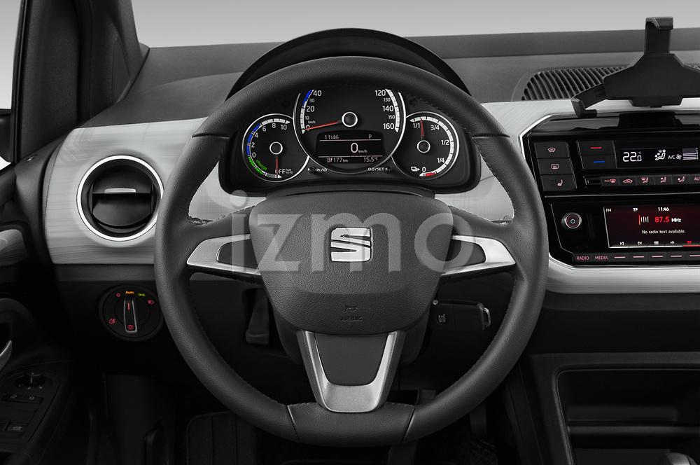 Car pictures of steering wheel view of a 2020 Seat Mii electric Plus 5 Door Hatchback