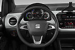 Car pictures of steering wheel view of a 2020 Seat Mii electric Plus 5 Door Hatchback