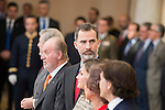 King Juan Carlos and King Felipe VI of Spain attends to the National Sports Awards 2015 at El Pardo Palace in Madrid, Spain. January 23, 2017. (ALTERPHOTOS/BorjaB.Hojas)