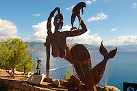 Portofino . Sculpture by Scaffiano at Castle brown . Italy