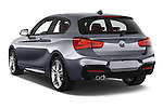 Car pictures of rear three quarter view of a 2015 BMW 1 Series M Sport 3 Door Hatchback Angular Rear